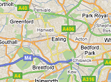 Map of West London where we operate.